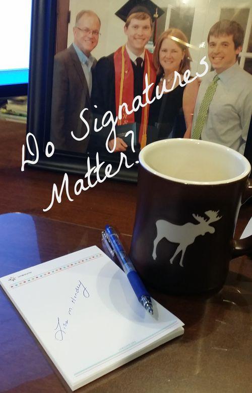 Do signatures matter